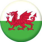 Wales Country Flag 58mm Button Badge